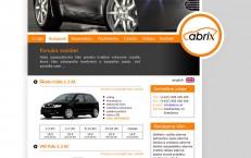 webka pre autopožičovňu Abrix