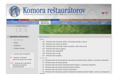 web stránka Komory Reštaurátorov