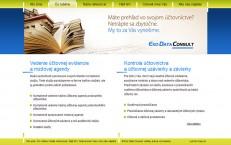 webka účtovníckej firmy eko-data.sk