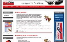 www-stránka servisnej siete autocrew.sk