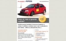 newsletter pre autoškolu Fortuna