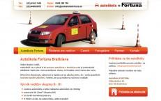 nová webka pre Autoškolu Fortuna