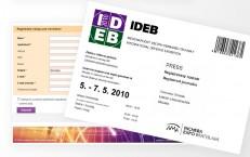 elektronické registrácie na IDEB 2010