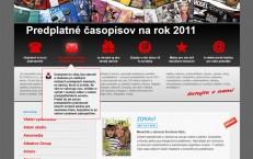 microsite Predplatné časopisov